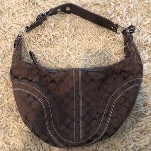 Classic brown Coach bag